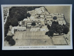 Kent WYE COLLEGE Withersdane Hall of Residence - Aerial View Old RP Postcard