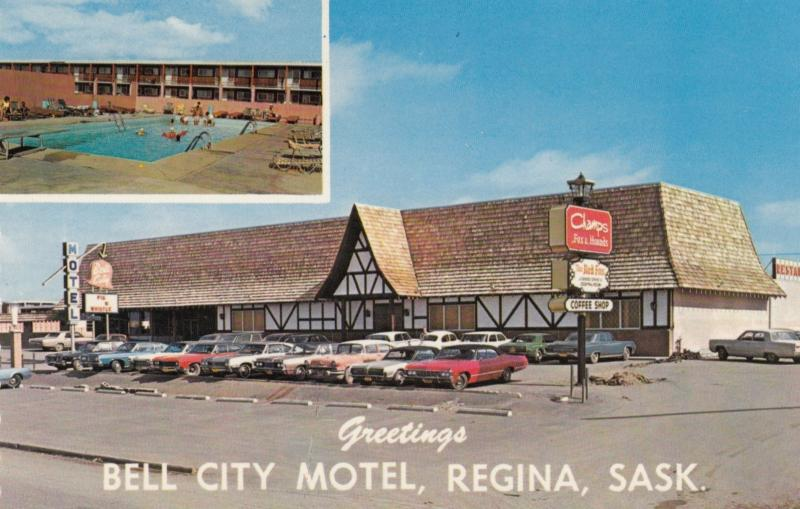 REGINA, Saskatchewan, 1950-60s; Bell City Motel, Swimming Pool