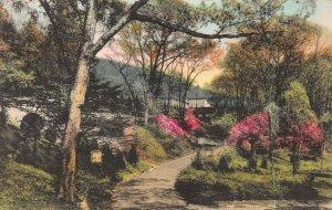 Main Bldg.,Valeria Home, Oscawana, New York, Hand Colored Postcard, Used in 1938