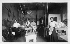 Rare View of Clothes Cleaners Laundry Equipment Workers RPPC Postcard