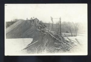 RPPC POLSON MONTANA MARSHALL CAMP WRECK DISASTER REAL PHOTO POSTCARD