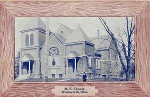 G33/ Wadsworth Ohio Postcard c1911 M.E. Church Building