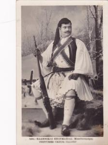 RP: GREECE, 1900-10s; Greek man posed with gun