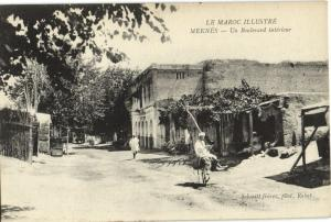 CPA Maroc Méknes Un Boulevard (22650)