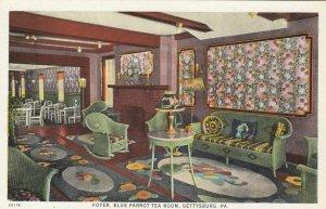 GETTYSBURG , Pa, 1910s ; Foyer , Blue Parrot Tea Room