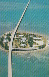 Aerial View Seven Mile Bridge At Pigeon Key Florida