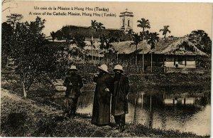 VIETNAM INDOCHINE - Un coin de la Mission a Hung Hou Tonkin (190104)