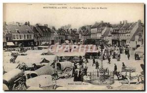 Old Postcard Montreuil sur Mer Great Place an ON TOP Day