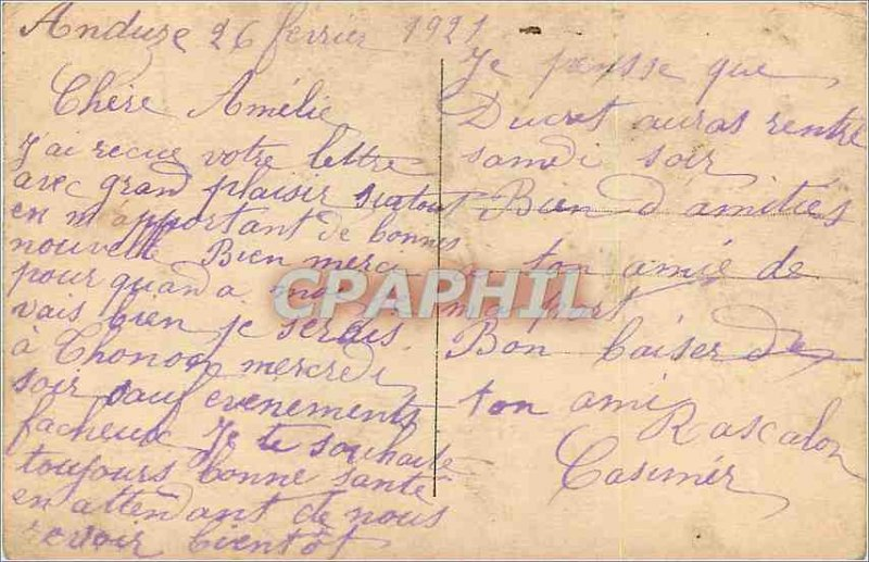 Postcard Old Stamps of Language I Love you My couor is yours States by the Th...