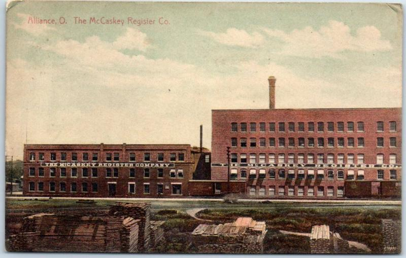 Alliance, Ohio Postcard The McCaskey Register Co. Factory Building View 1911