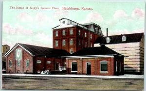 Hutchinson, Kansas Postcard The Home of Kelly's Famous Flour Mill View c1910s