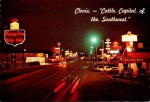 New Mexico Clovis Main Street At Night