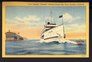 Santa Catalina, California/CA Postcard, Steamer Catalina In Avalon Bay, 1953!