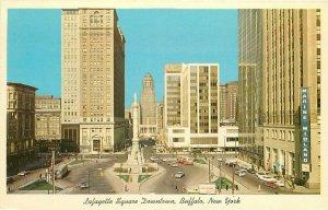 Buffalo New York Lafayette Square City Hall Postcard Guntzburger Teich 20-2222