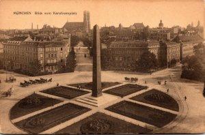 Germany Muenchen Blick vom Karolinenplatz