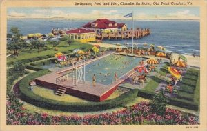 Virginia Old Point Comfort Swimming Pool And Pier Chamberlin Hotel With Pool ...