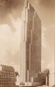 New York City R C A Building Rockefeller Center Real Photo