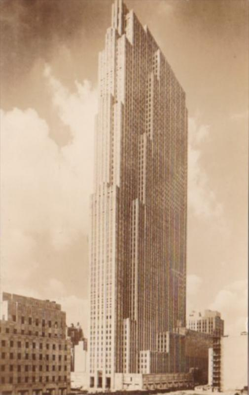 New York City R C A Building Rockefeller Center Real Photo
