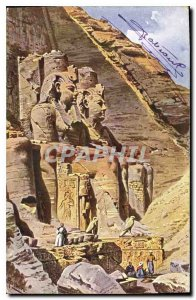 Postcard Ancient Egypt Egypt Colossi of Ramses Abu Simbel