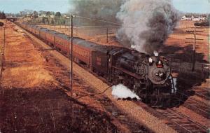 BOSTON MAINE RAILROAD-PACIFIC 3713 LAST STEAM POWER TRAIN-DOVER NH POSTCARD 1959