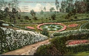 Flower Beds at Elysian Park - Los Angeles CA, California - pm 1910 - DB
