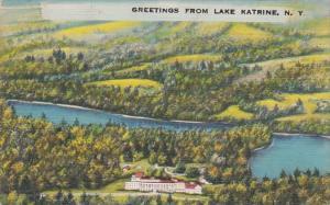 New York Greetings From Lake Katrine 1952