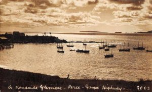 Perce Quebec Canada Harbor View from Malbaie Real Photo Postcard JF360342