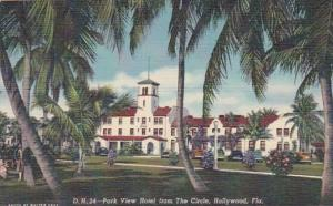 Florida Hollywood Park View Hotel From The Circle Curteich
