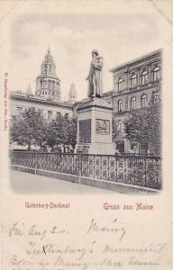 Gutenberg-Denkmal, Gruss aus Mainz, Rhineland-Palatinate, Germany, 00-10s