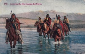 Crossing the RIO GRAND DEL NORTE, 1914