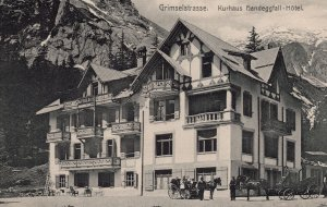 Grimselstrasse Kurhaus Hotel Antique Switzerland Postcard