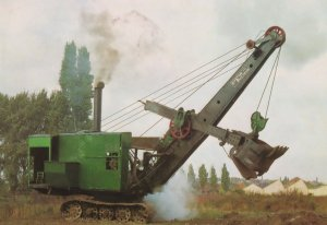 Lincoln Steam Shovel Leicester Technology Museum Postcard