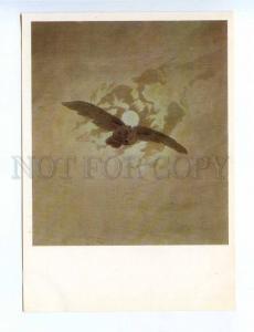 196916 flying owl by Caspar David Friedrich old postcard