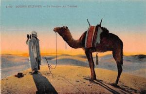 Scenes et Types La Priere au Desert Camel