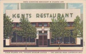 New Jersey Atlantic City Kents Restaurant 2124 Atlantic Avenue