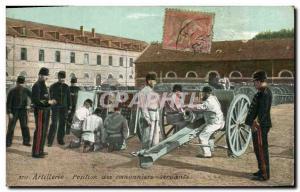 Postcard Old Army Artillery gunners gunners Position