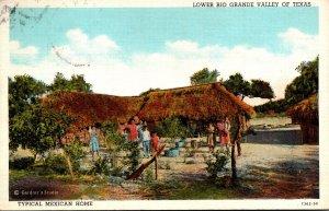 Texas Lower Rio Grande Valley Typical Mexican Home 1939 Curteich
