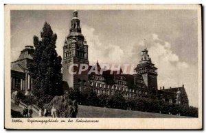 Old Postcard Stettin Regiecungsgebaude year December Hakenteccasse Poland Pol...