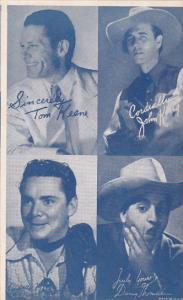 Cowboy Arcade Card Tom Keene John King Danny Thomas