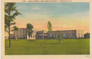 The Mack Library - Bob Jones University - Greenville SC, South Carolina - Linen