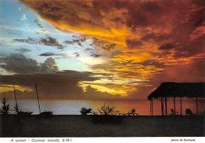 Grand Cayman Islands Post card Old Vintage Antique Postcard A Sunset Unused