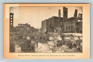1906 San Francisco CA Earthquake Mission Street Vintage Disaster Postcard