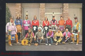 OOLOGAH OKLAHOMA INDIAN DEGREE TEAM NATIVE AMERICANA VINTAGE POSTCARD
