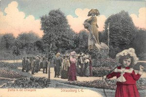 Partie in der Orangerie Strassburg Strasbourg France c1907 Hand-Colored Postcard