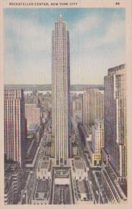 New York City Rockefeller Center Curteich