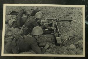 Mint Czechoslovakia Real Picture Postcard RPPC Army Our Troops