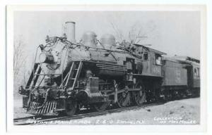 RPPC Boston & Maine #1484 2-6-0 Steam Locomotive, Kodak Paper Real Photo.
