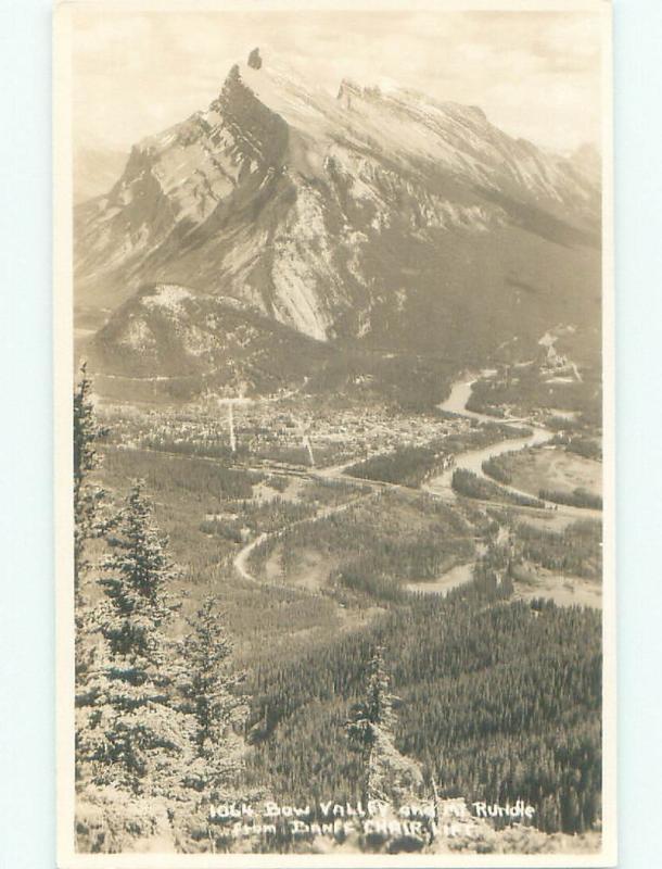 old rppc NICE VIEW Banff Alberta AB W0892