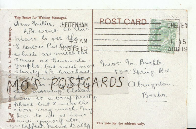 Genealogy Postcard - Buckle or Bucble - Spring Rd - Abingdon - Berks - Ref 8902A