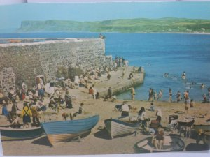 Vintage Postcard Ballycastle Co Antrim Children Playing in Boats The Pier 1970s
